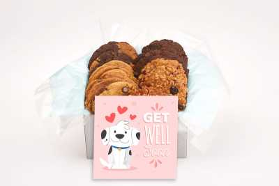 Cute Smiling Dog Get Well Gift Box