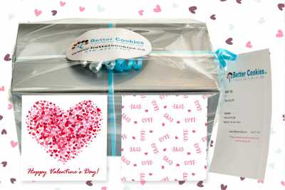 Small Happy Valentine's Day Cookie Gift Box