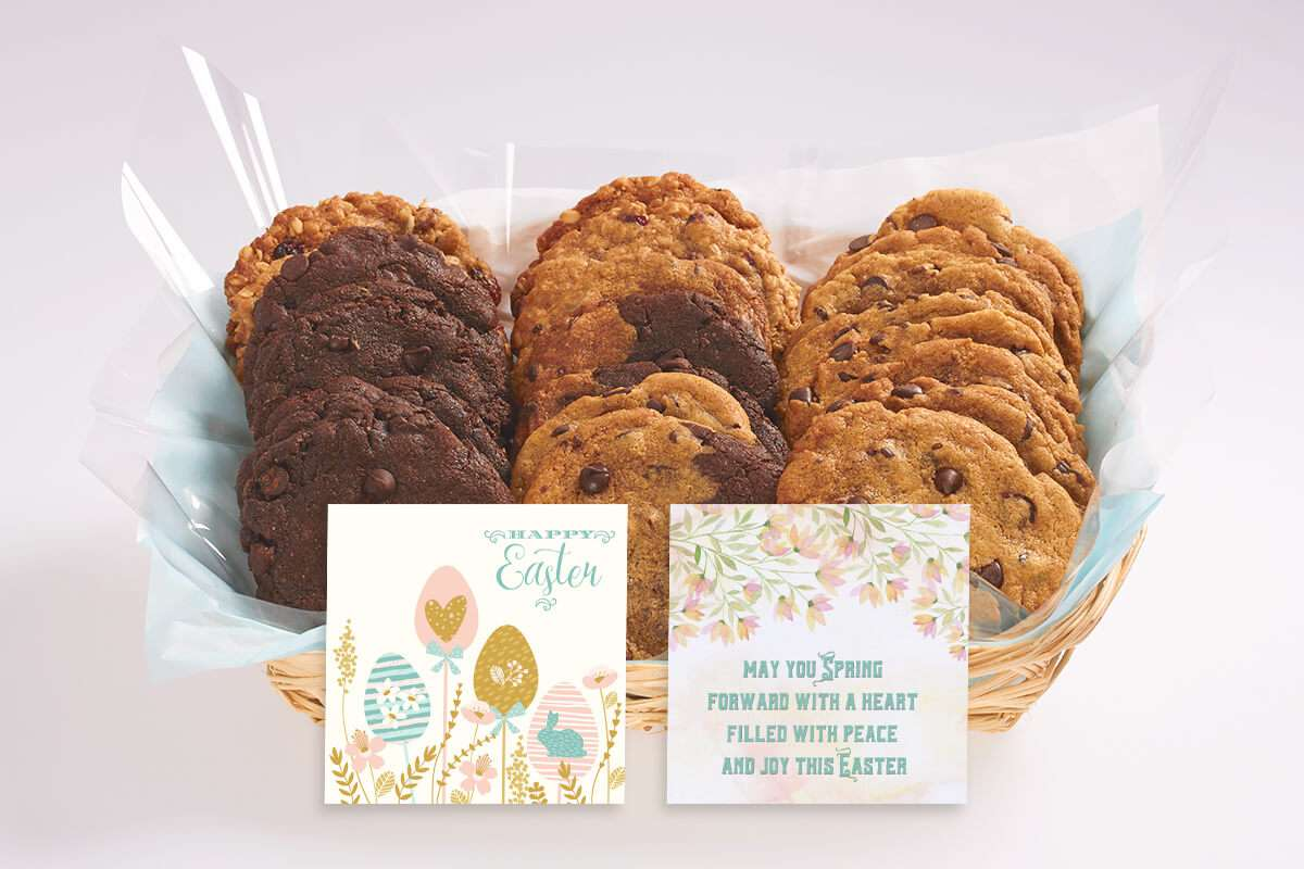Easter cookie basket icare cookie gift baskets better cookies send an easter gift basket of gourmet cookies across toronto and the gta negle Image collections