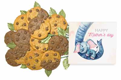 Elephant Hug Mother's Day Cookie Gift Bouquet