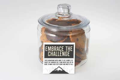 Embrace the Challenge Cookie Jar