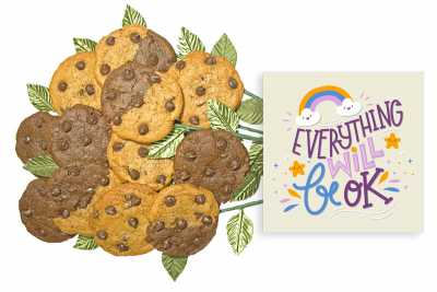 Everything Will Be Ok Cookie Flower Bouquet