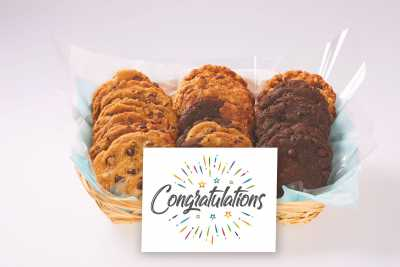 Fireworks Congratulations Cookie Basket