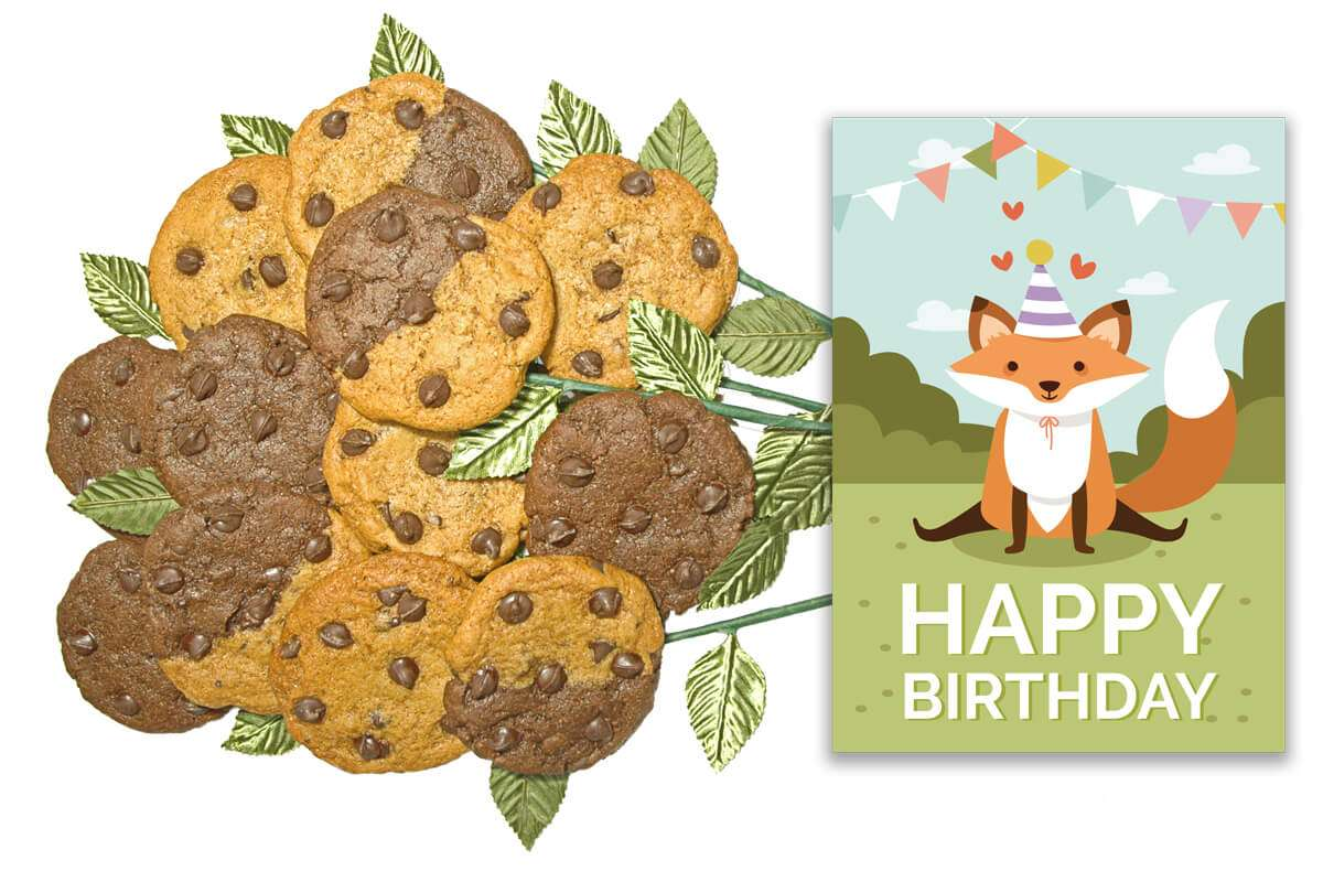 Foxy Birthday Bouquet of Cookies