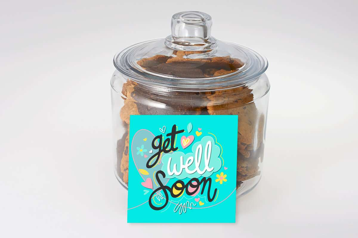 Funky Blue Get Well Soon Cookie Jar