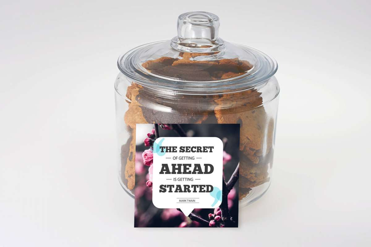 Get Started Cookie Jar