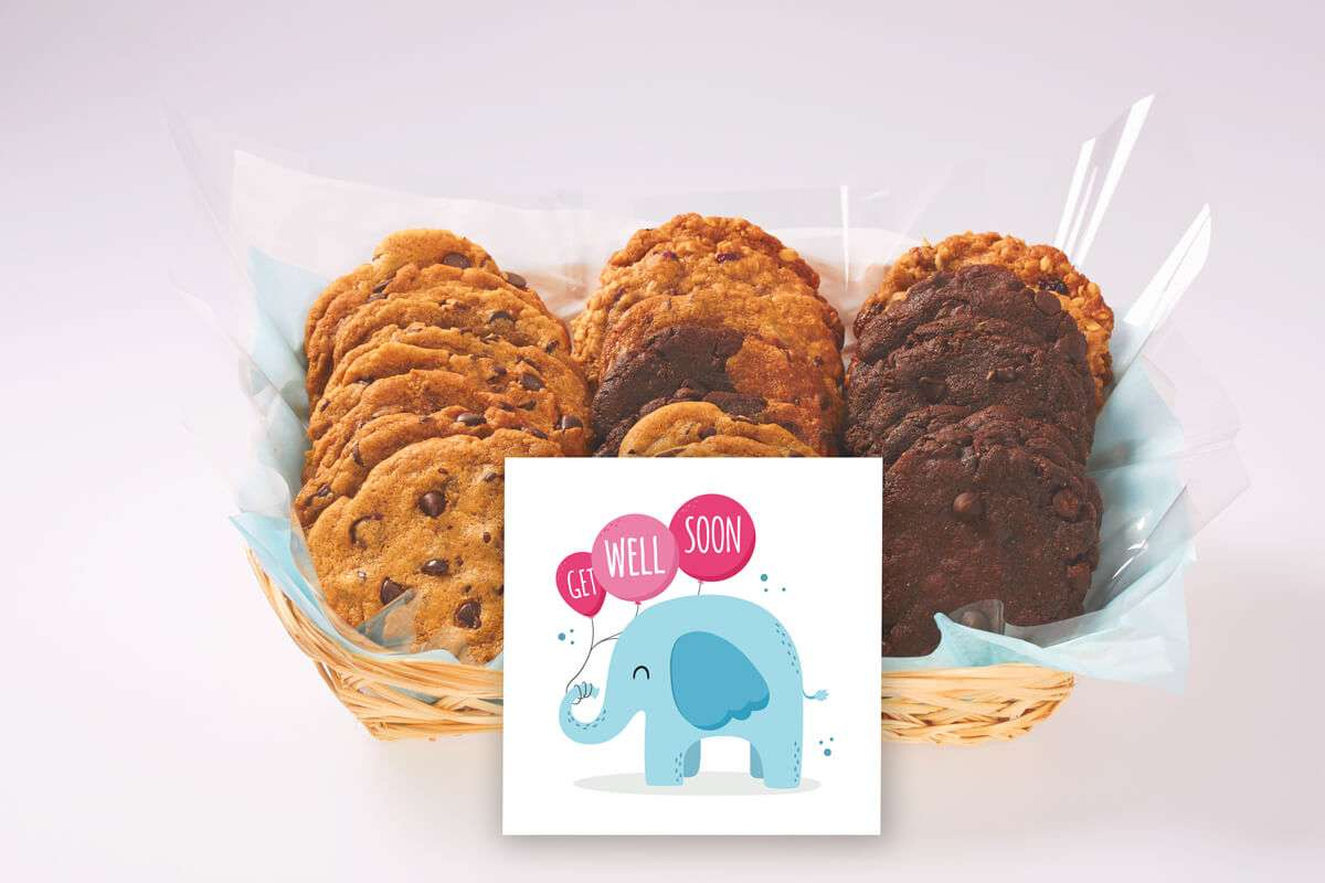 Get Well Elephant Cookie Gift Basket