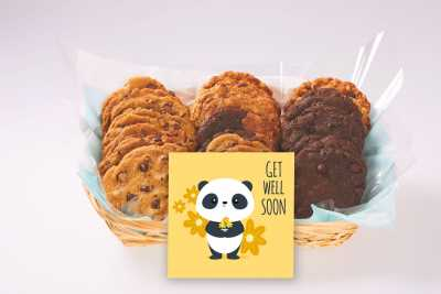 Get Well Panda Gift Basket