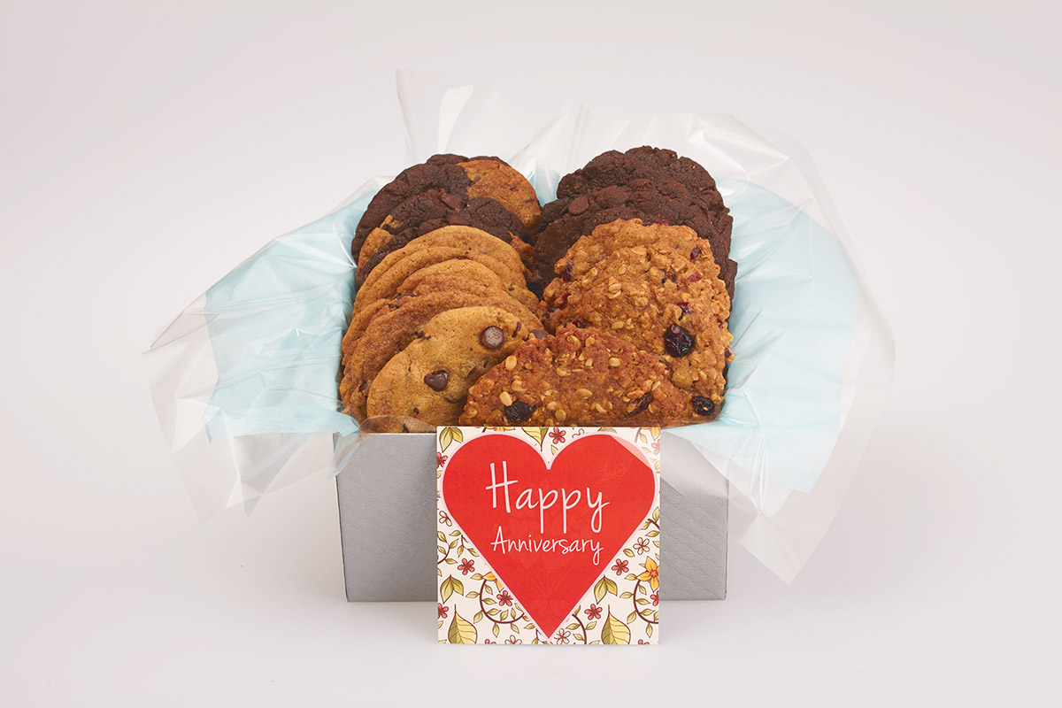 Happy Anniversary Cookie Gift Box Delivery in Canada and across the GTA