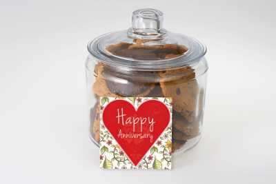 Happy Anniversary Cookie Jar