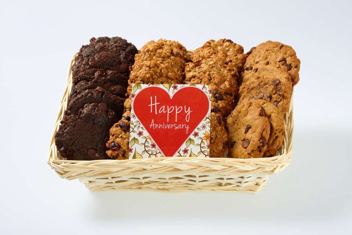 Happy anniversary vegan gift basket icare cookie gift baskets