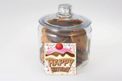 Happy Birthday Cookies in a Jar