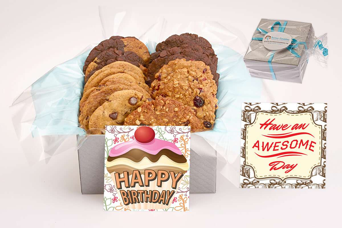 Happy Birthday Gift Box iCare Cookie Gift Boxes Better Cookies