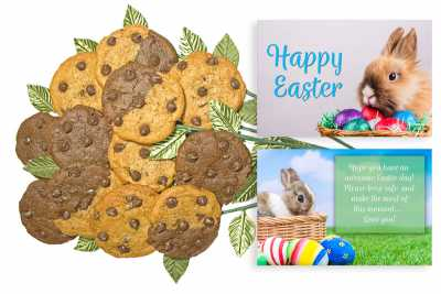 Happy Easter Bunny Cookie Gift Bouquet