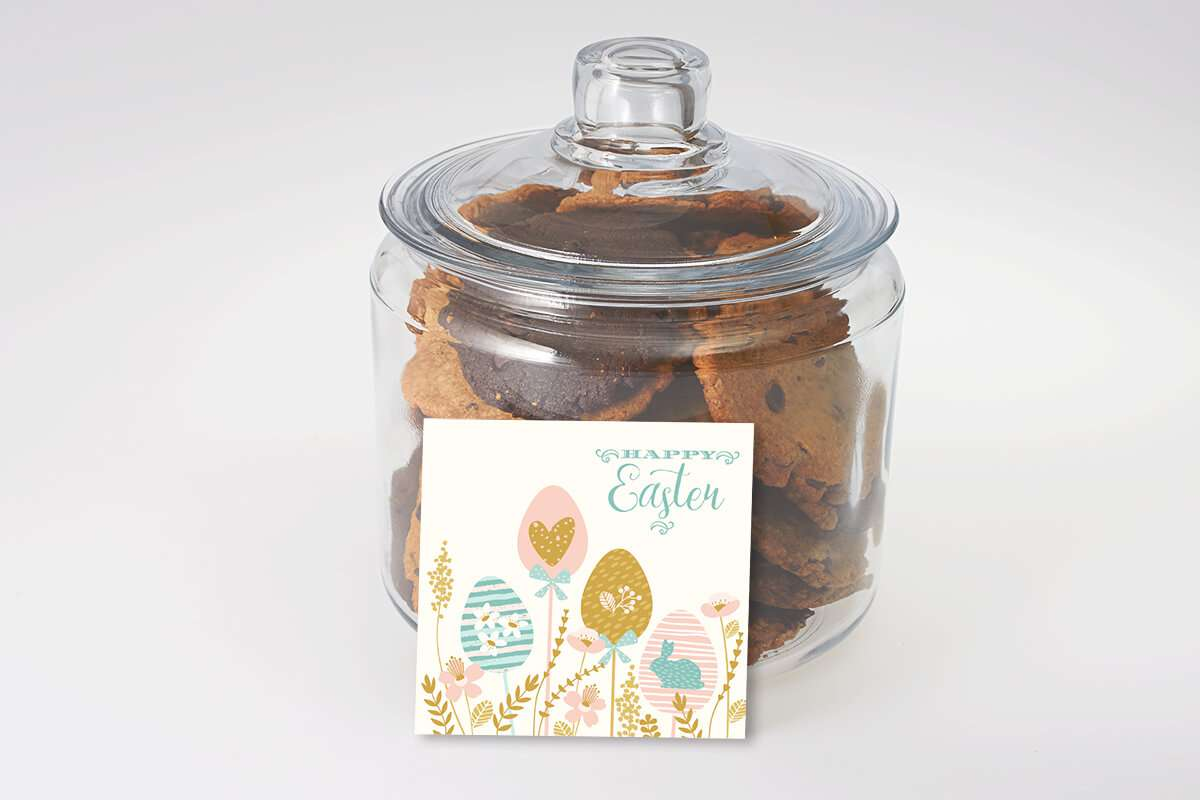 Happy Easter Cookie Jar