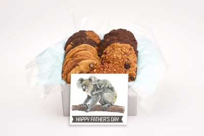 Happy Father's Day Koalas Cookie Gift Box