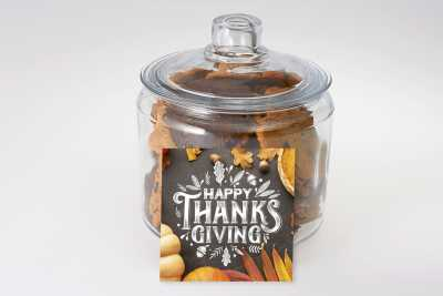 Happy Thanksgiving Cookie Jar