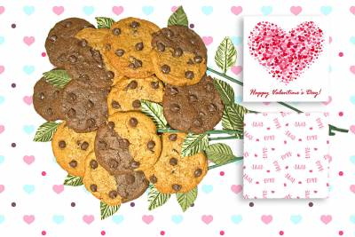 Happy Valentine's Day Cookie Bouquet