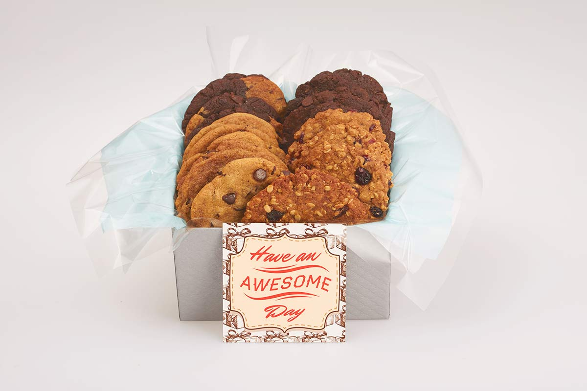 Have an AWESOME day cookies gift box