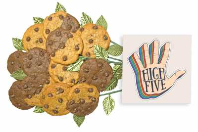 High Five Cookie Flower Bouquet