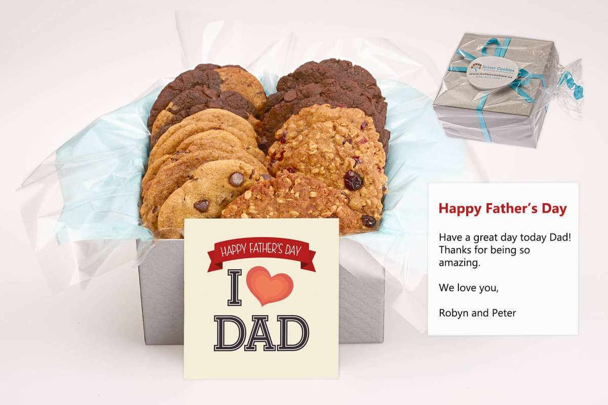 I Love Dad Cookie Gift Box