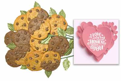 I Love Every Moment Cookie Flower Bouquet