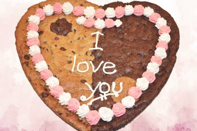 I Love You Pink Heart Cookie Gram