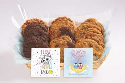 I Love You To the Moon Cookie Basket