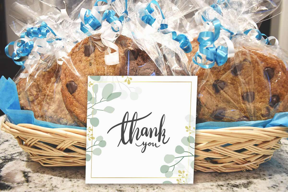 Individually Wrapped Cookies Gift Basket