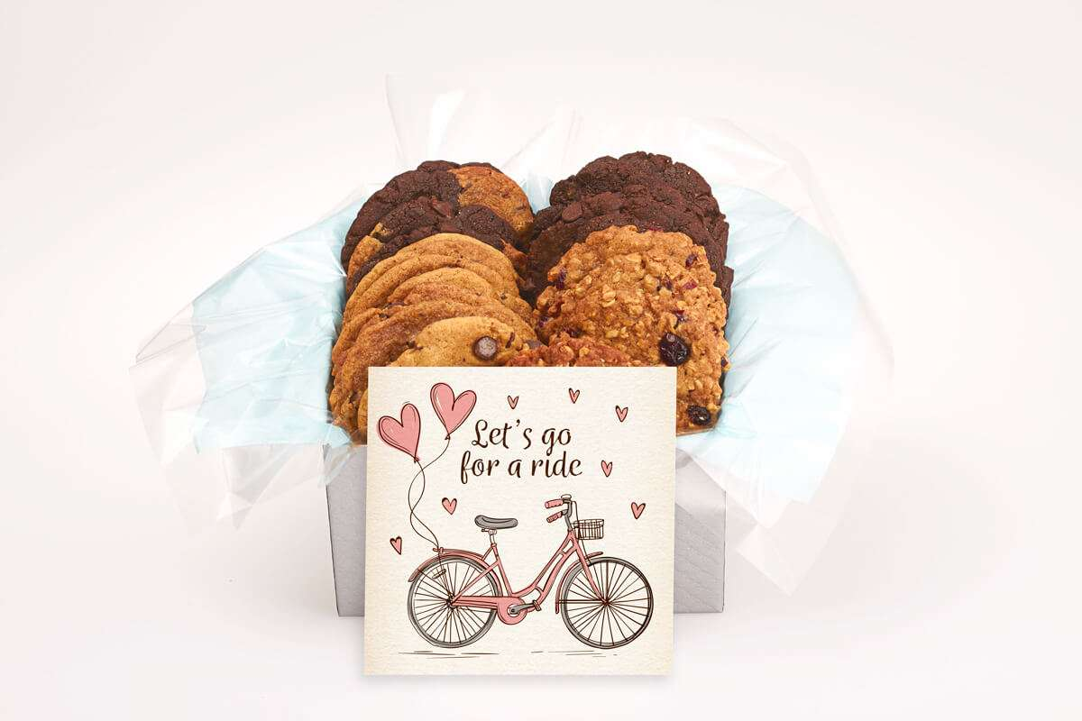 Lets go for a Ride Cookie Silver Gift Box
