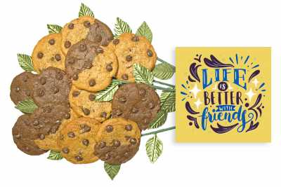 Life is Better With Friends Cookie Gift Bouquet
