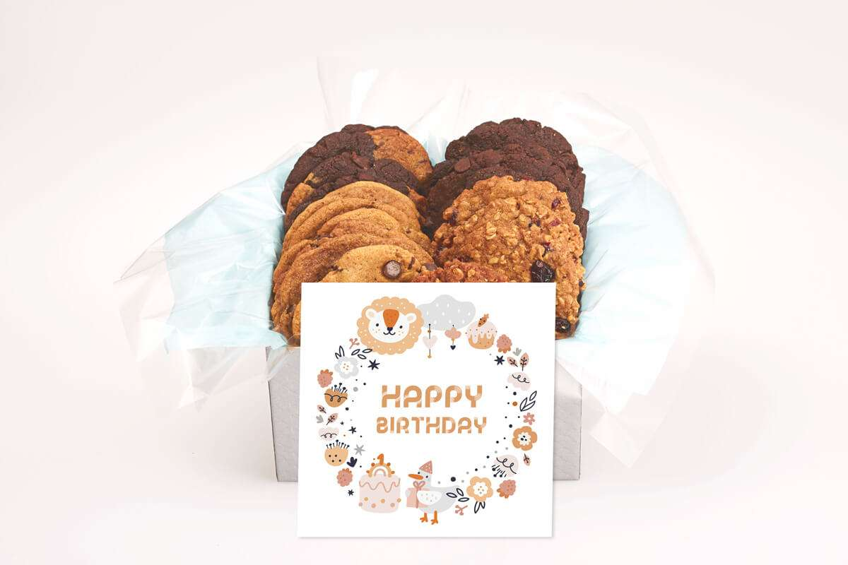Bear and Duck Birthday Cookie Gift Box