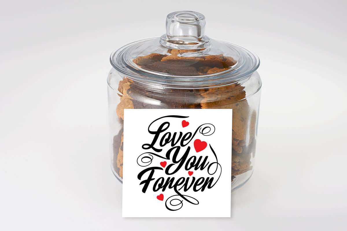 Love You Forever Cookie Jar Icare Cookies In A Jar Bettercookies Ca