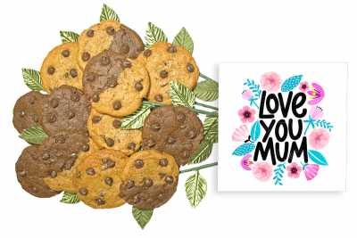 Love you Mum Cookie Gift Bouquet