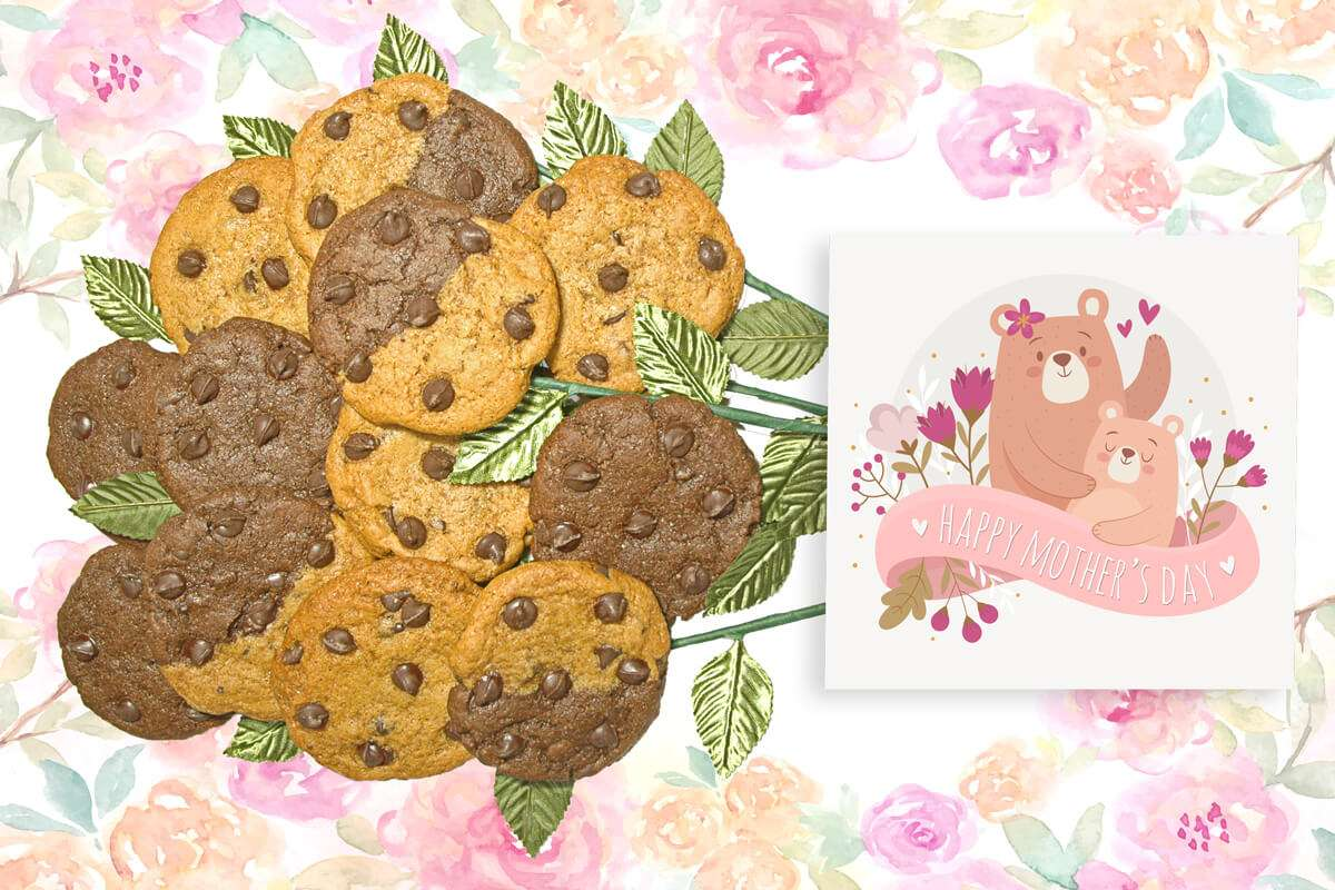 Mama Bear Mother's Day Cookie Bouquet | Long Stem Cookie