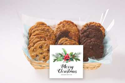 Mistletoe Christmas Cookie Basket