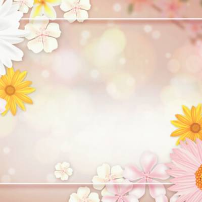 Select the Mixed Flowers Frame
