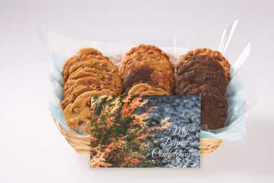 My Deepest Condolences Cookie Gift Basket