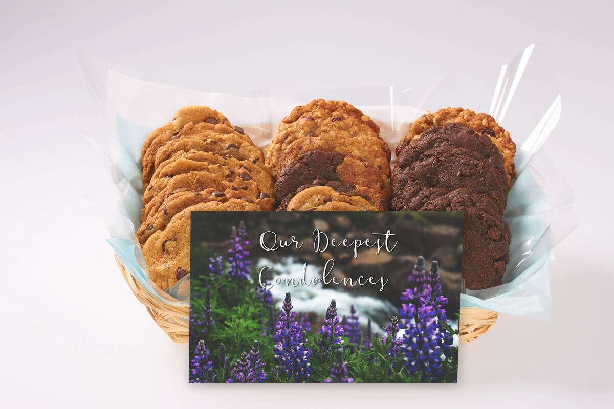 Our Deepest Condolences Cookie Gift Basket
