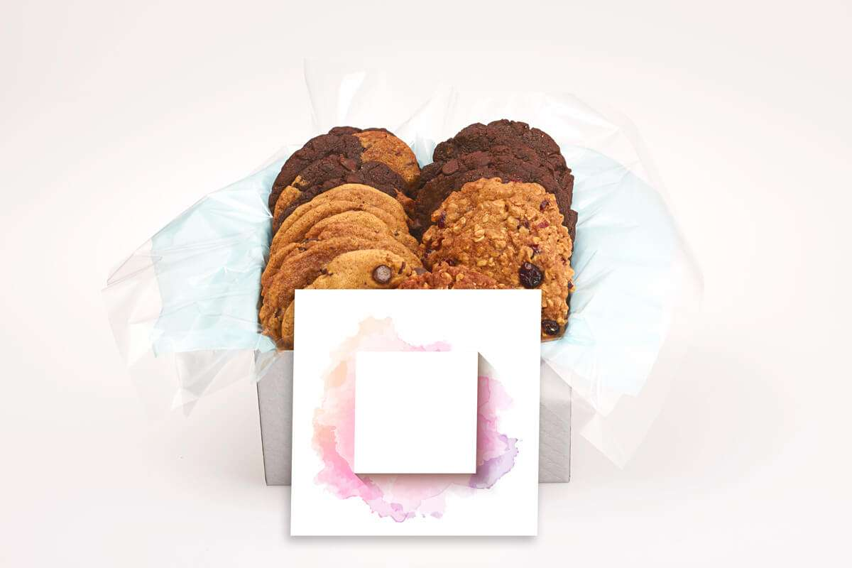Pink and Purple Watercolour Cookie Gift Box
