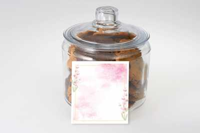 Pink Watercolour Cookie Gift Jar