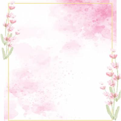 Select the Pink Watercolour Frame