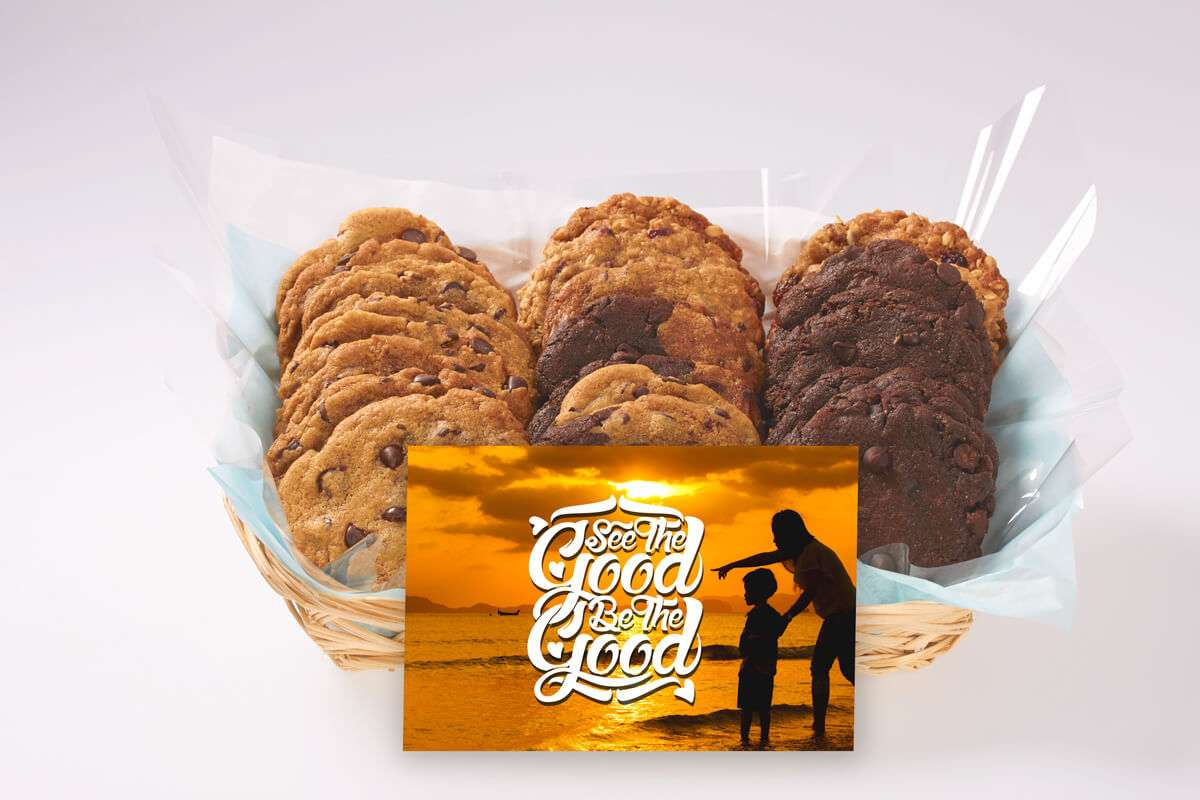 See the Good & Be the Good Cookie Basket