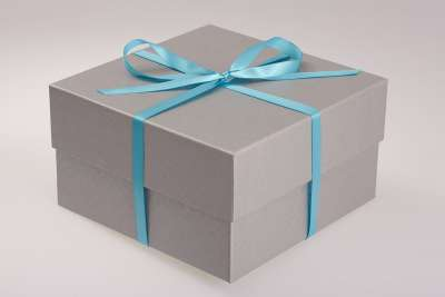 Select Embossed Silver Gift Box