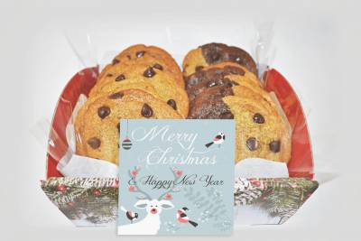 Small Christmas Cookies Gift Basket