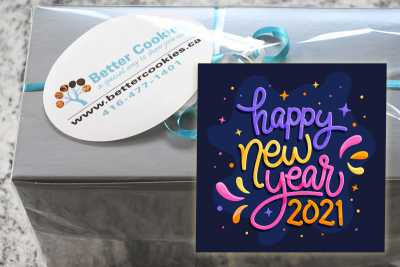 Small Colourful Happy New Year Gift Box