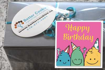 Small Cookie Monster's Birthday Box