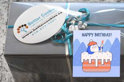 Small Penguin Birthday Cookie Box