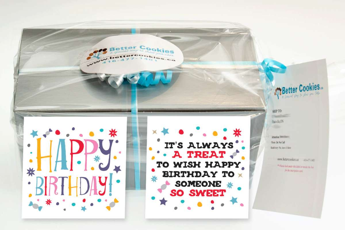 Its Easy To Send A Small Birthday Gift Box Of Cookies In Canada