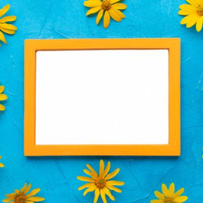 Select the Sunflowers Yellow Frame